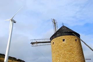 Molinos de viento en la Guerinda