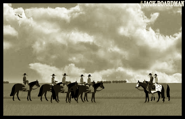 Kidd & McLintock meet unemployed cowboys ©2012 Jack Boardman