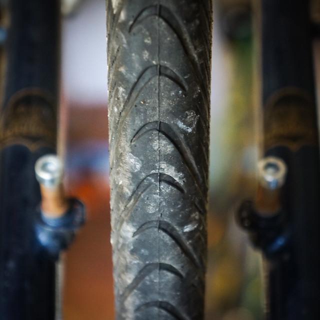 Schwalbe Marathon Supreme: Front tyre wear after 1,500 miles