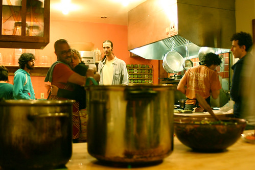 Kitchen moment at Earthdance