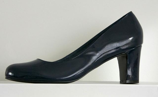 Navy Patent Heels