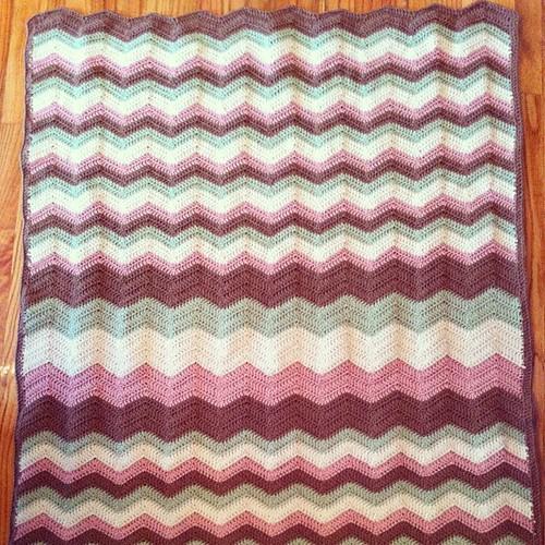 Most of the #ripple #chevron #crochet #afghan