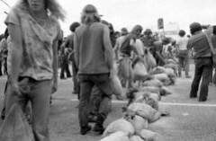 Anti-Vietnam War Protesters Block Street: 1972