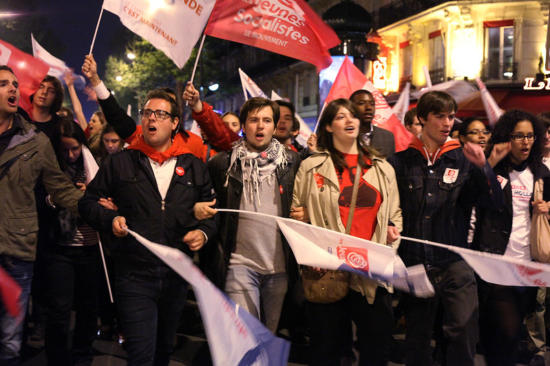 Bastille le 6 Mai 2012 - Photo Parti Socialiste - licence Creative Commons