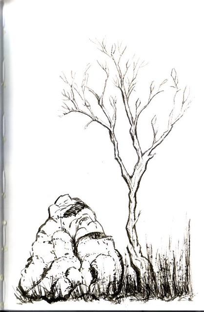 Chinese Brush Painting in Stillman & Birn Alpha Sketchbook