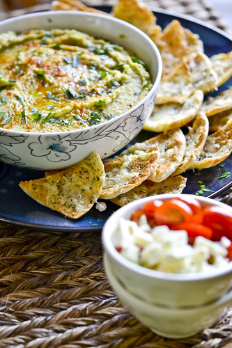 Hummus with Parmesan Herb Pita Chips 3