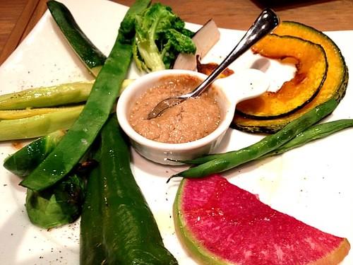 温かい旬野菜のロースト バーニャカウダソース@Oysterbar&Wine BELON (オイスターバー&ワイン ブロン)