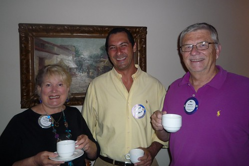 Joanne, Maurice (guest) and Bill are all smiles!