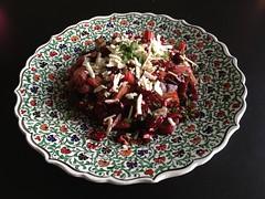 Ottolenghi's Rhubarb-Beetroot Salad