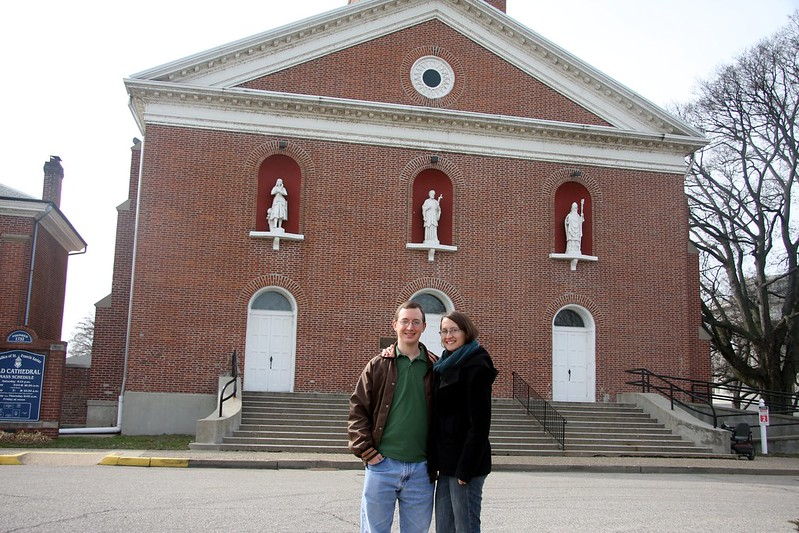 Us in Front of the Basilica of St. Francis Xavier