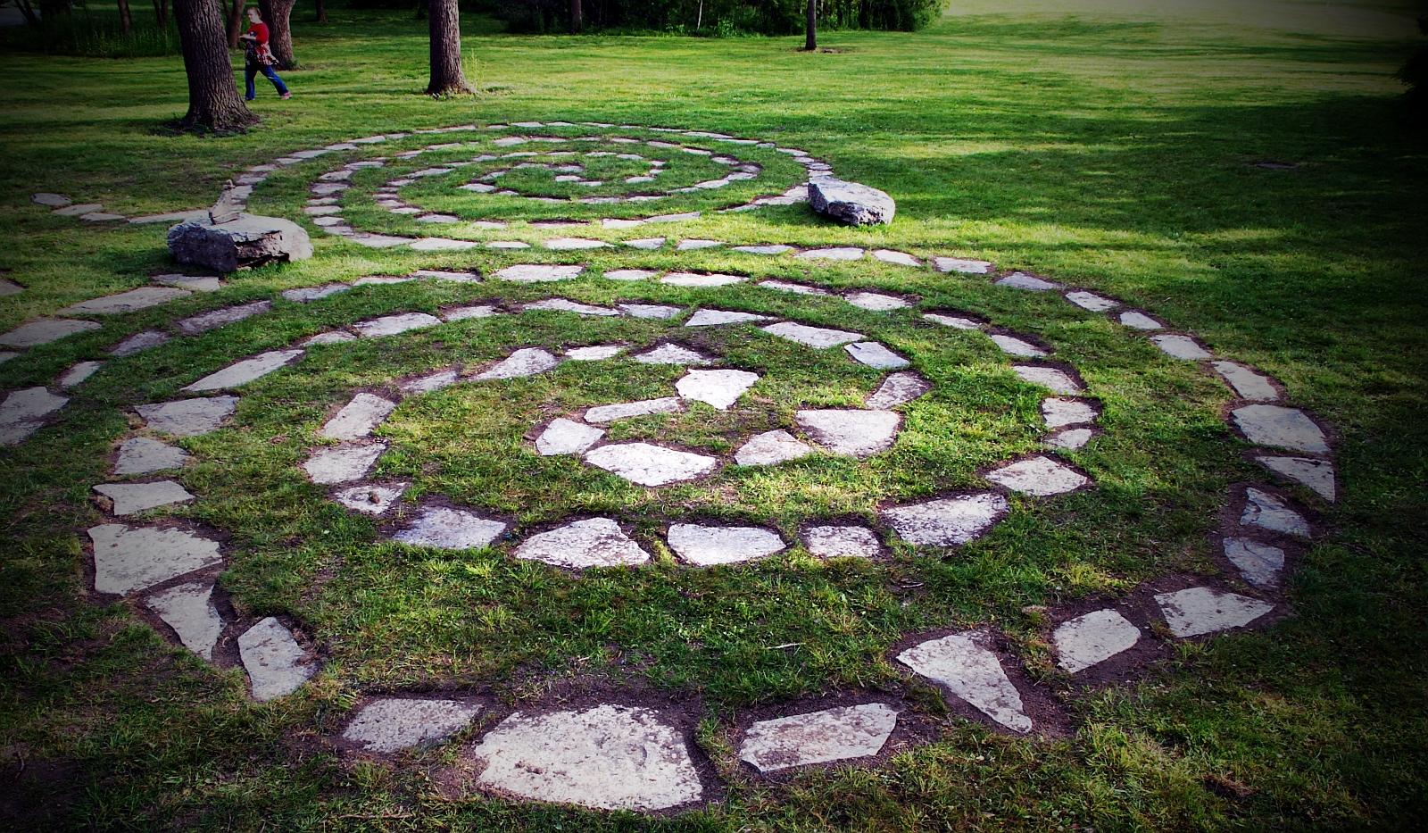 labyrinth at Bluffton University Ohio