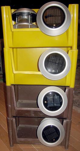 20120603 - yardsale booty - 7 - bins, solar lights- IMG_4319