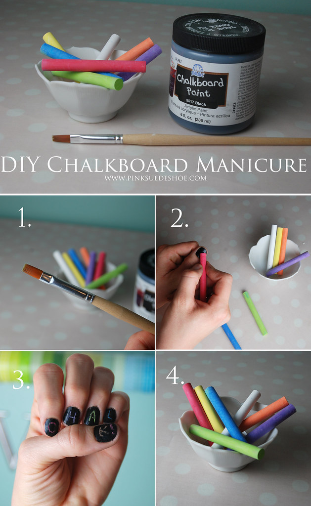 Chalkboard nails DIY