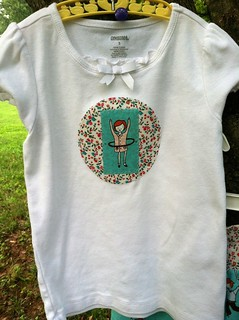 aneela hoey: little apples applique tee