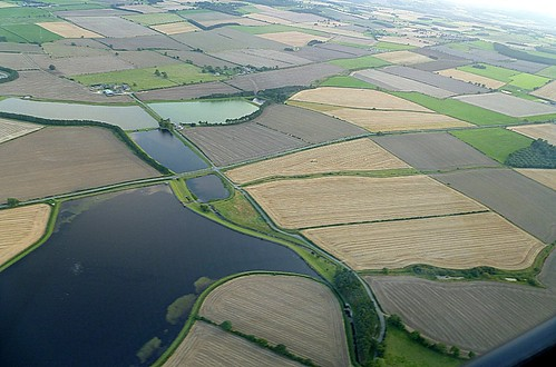 Wall Mile 17 and the Whittledene reservoirs from the air