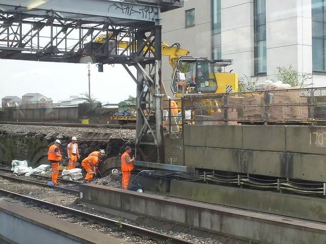 Landslip at Cardiff Central Station