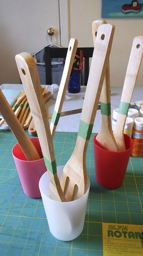 Rainbow Wooden Spoons 5