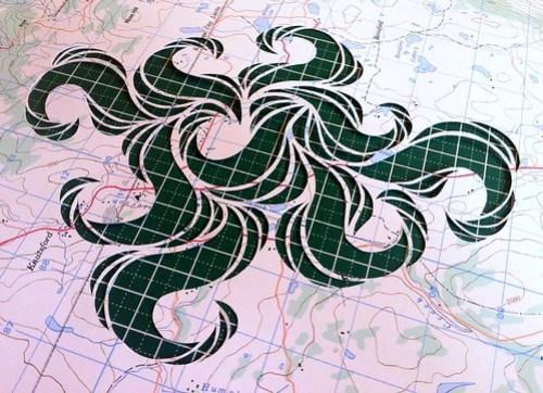 Paper cut map