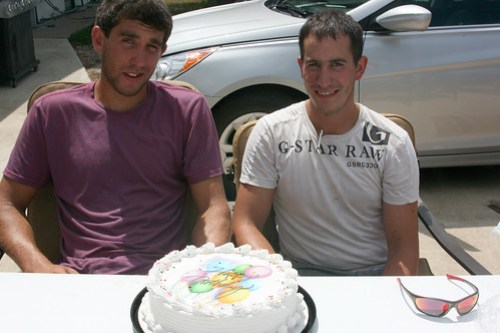 Birthday boys Oak and Dave had to share a cake