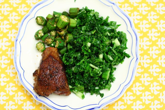 Kale and Cucumber Slaw