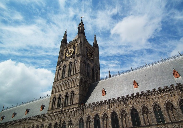 The Cloth Hall, home of the In Flanders Fields Museum - Ypres, Belgium