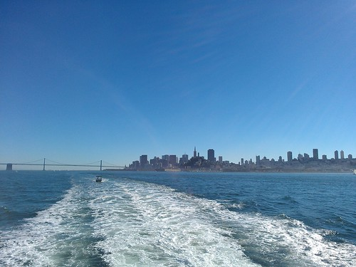 SF and the bay bridge