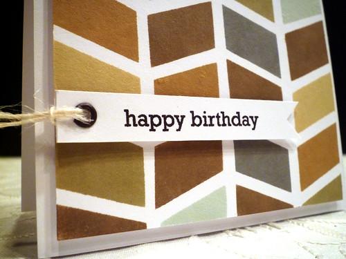 Herringbone Birthday - Close Up