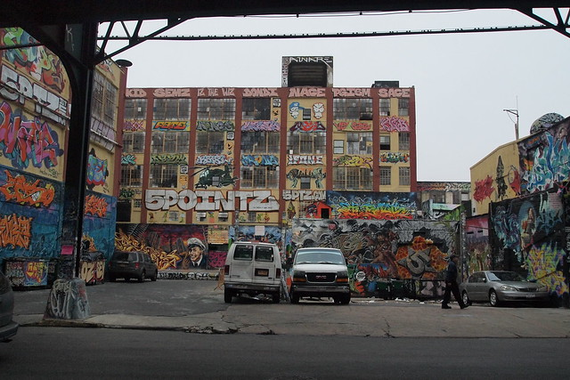 5Pointz from under the 7 train. Photo by Ellen Brenna Dougherty