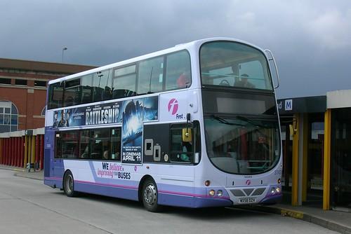 First Manchester, Volvo B9TL MX58 DZH, Ashton-under-Lyne bus station