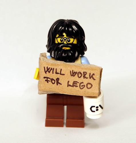 Will Work For LEGO by kockamania.hu
