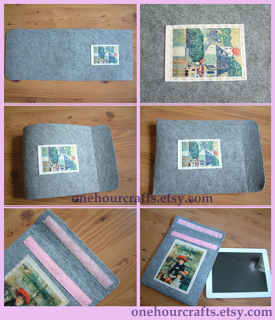 diy felt ipad purse