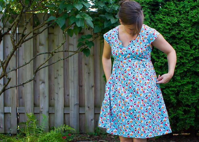 washi dress pattern testing