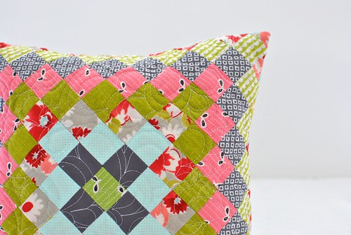 Trip Around the World Pillow in Ruby