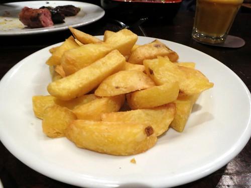 Yellow potato chips