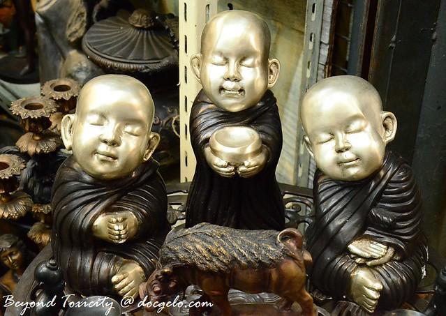 cute little monk figurines from chatuchak weekend market