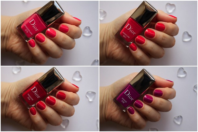 Dior Vernis Couture Effet Gel Collection for Spring 2014 Wonderland, Aventure, Pandore, Mirage swatches