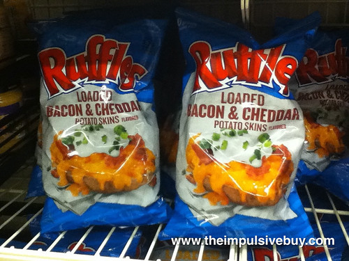 Ruffles Loaded Bacon & Cheddar Potato Skins on shelf