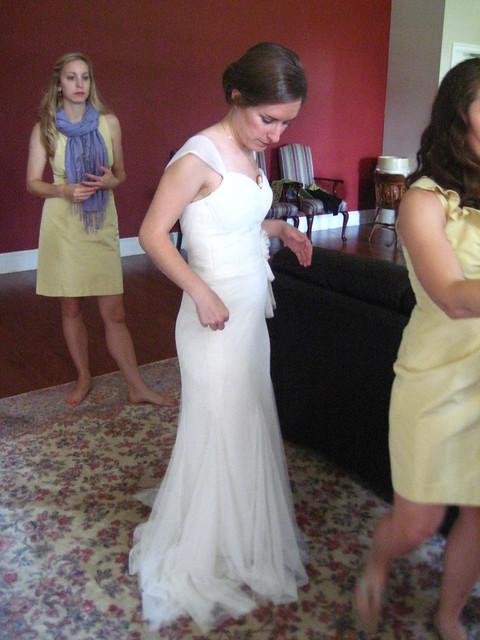 Kathryn gets ready for her wedding