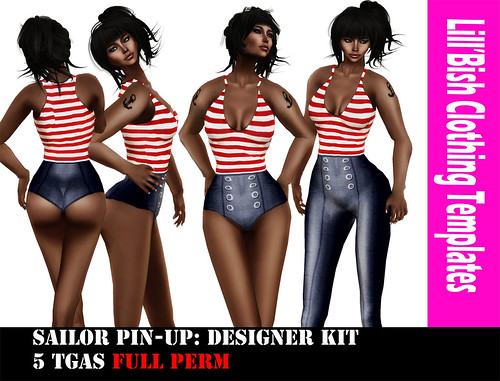 Lill'Bish Sailor Pin-up outfit / Designer kit by Evely Wolff