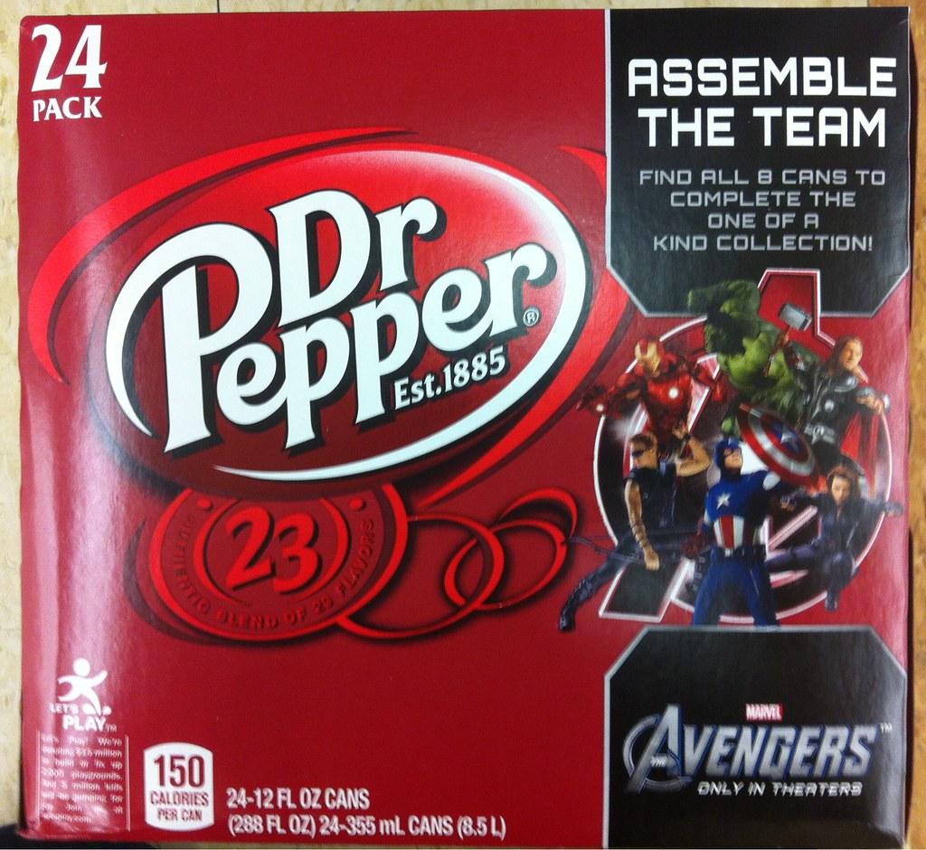 Dr Pepper Avengers 24 pack
