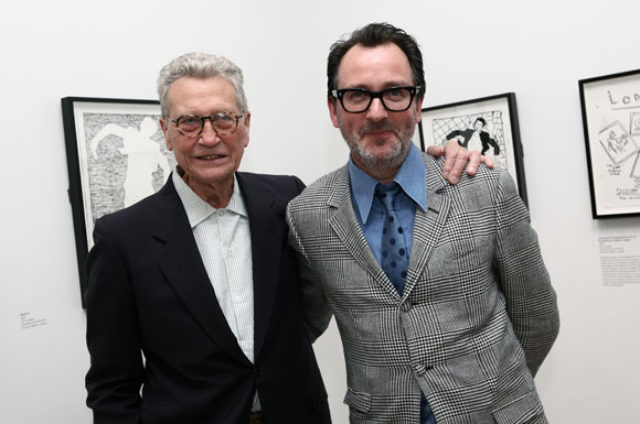 Derek Boshier + Paul Gorman, Pop Music private view, Pallant House Gallery, Chichester, June 22 2012.