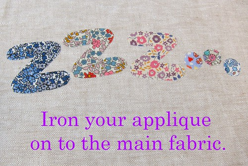 Raw edge applique - step 6