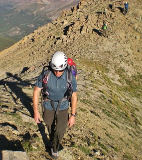 Slava Ascending Ellingwood Ridge