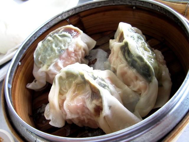 Century egg dumplings