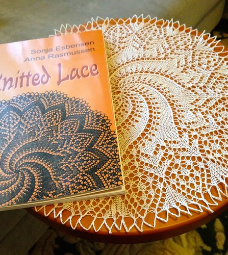 doily and book