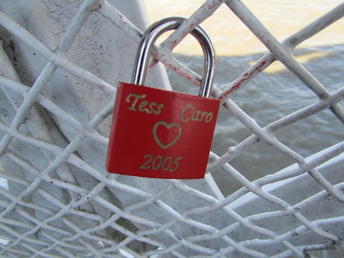 Love lock on Tower Bridge