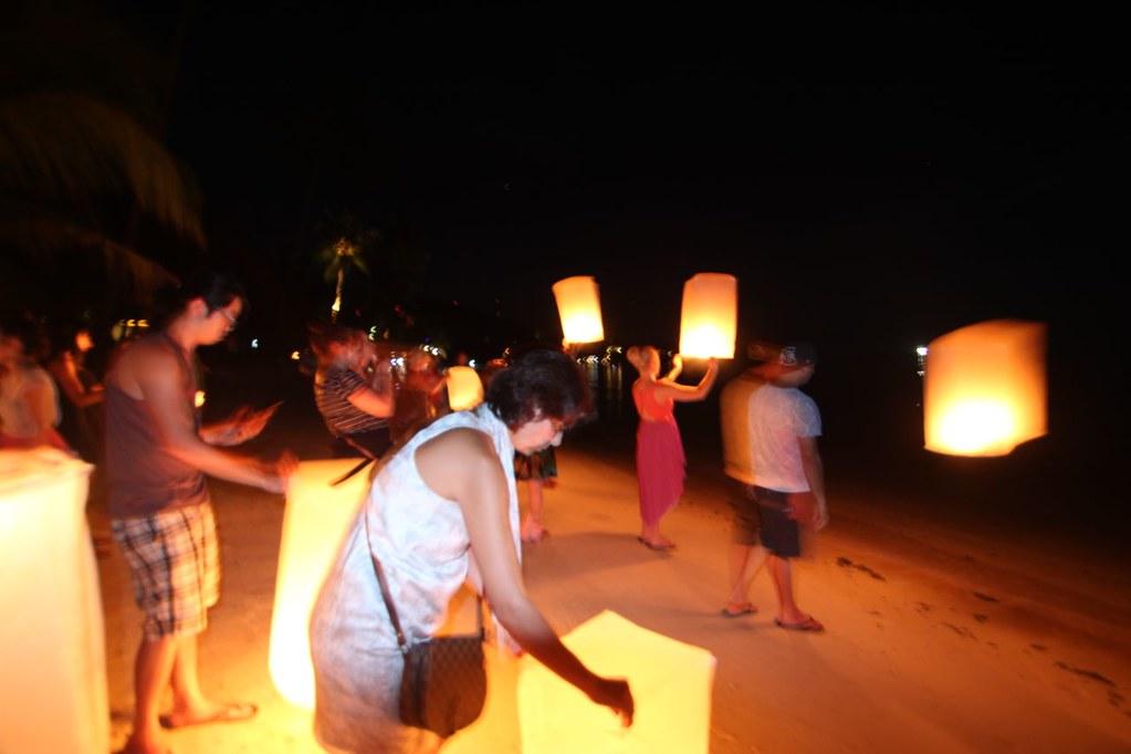 Lantern Lighting- Koh Pha Ngan, Thailand