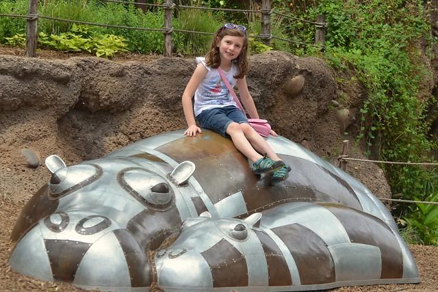 Caitlin on the Hippo