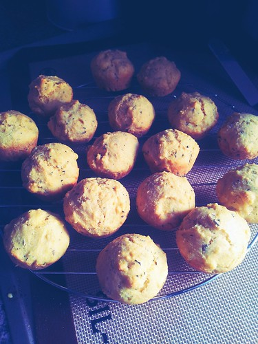 Buttermilk Rosemary Corn Muffins