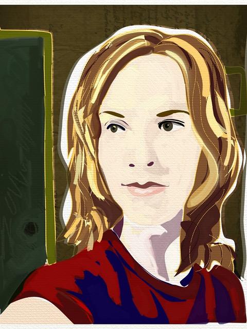 Amy-portrait-iPad art-drawing